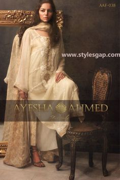 Ayesha Ahmed Formals Party Wear Dresses Designs 2016-2017 Collection (14)