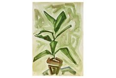 Abstract Plant in Pot, 1954