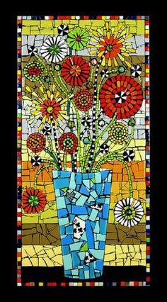 Buzz Blossoms - paper mosaics