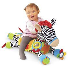 Ella- Ride-on Jumbo Activity Zebra - Toys, Games, Electronics & Crafts – Educational, Imaginative & Fun