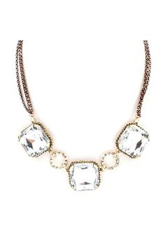 Arianna Necklace in Crystal