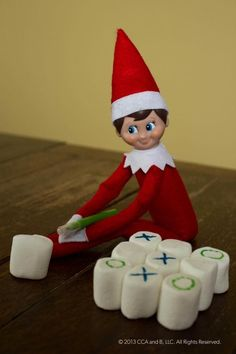 27 Creative & Best Elf On The Shelf Ideas | A Mitten Full of Savings- Fun for our elf, Hermie!