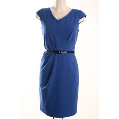 Sloping V-Neck Belted Dress in Blue. http://mimi.co.ke/dresses/544/145/new-arrivals/P-sloping-v-neck-belted-dress-in-blue.html?coid=46