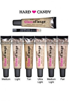 Seriously the BEST concealer for dark circles, scars, acne EVER! Brightens eyes and stays on until you take it off. Amazing product. A dot the size of the head of a pin does both eyes! Hard Candy Glamoflauge Heavy Duty Concealer