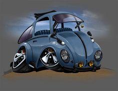 automotive illustration cartoon