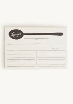 Spoon Recipe Cards By Rifle Paper Co.