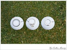 Instead of rings... Write the date on the golf balls :) golf course wedding