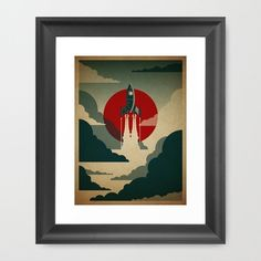 The Voyage, available as a framed print from Threadless.com