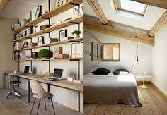 Love this shelving. Bring on the wood.