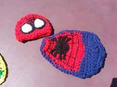 Spiderman Crochet newborn photo prop set