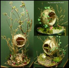 1-144 Mouse homes made from ping pong balls based on the books of Brambly Hedge Autumn Story