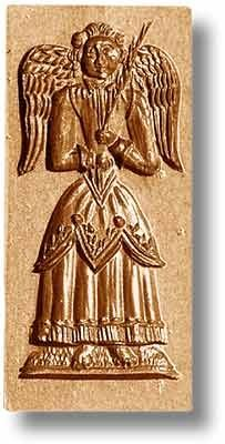 """Peace Angel springerle cookie mold, 3.7x1.7"""" (93x43mm)"""