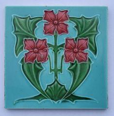 Antique Art Nouveau Tile, c1905 • £45.00 - PicClick UK