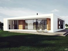 Patio House, Ukraine: A single-storey residence with a roundabout gallery, patio & a terrace. Proposed by Line Studio.