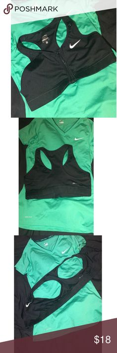🔥🔥 BLACK NIKE FRONT ZIP SPORTS BRA🔥🔥 Black, Nike, front zip sports bra. Super supportive and breathable. Racerback, hides straps if needed in a shirt! Reasonable offers accepted. No trades no low balling please ❌❌❌❌ Intimates & Sleepwear Bras