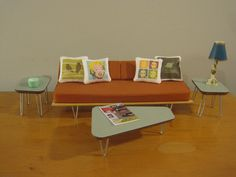 Set of Midcentury Modern Miniature Coffee  and End Tables. $30.00, via Etsy.