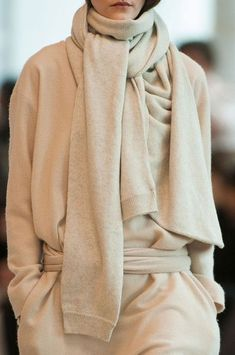6a78e1362e Biscuit colour soft wool knitwear by Christophe Lemaire Fall 2014