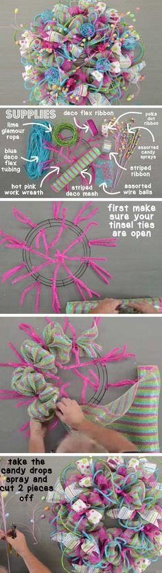 Christmas Candy   20+ Super Easy DIY Christmas Wreaths