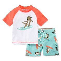 Carter's® Surfing Dog Rash Guard Set – Boys 3m-24m  found at @JCPenney