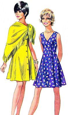 Dress Pattern Simplicity 8779 Sleeveless by paneenjerez Dress Making Patterns, Vintage Dress Patterns, Clothing Patterns, Vintage Dresses, Vintage Outfits, Vintage Fashion, 1970s Dresses, Fashion Illustration Vintage, Illustrations