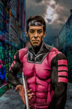 Nomad of X-Men fame body paint by Calgary based makeup artist Lianne Moseley.
