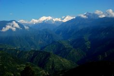 In the picture: Beautiful view of Kanchendzonga mountains from Pelling town, #Sikkim India Tour, Tourist Places, Places Of Interest, Great View, Small Towns, Tours, Mountains, Travel, Beautiful