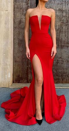May 2020 - Mermaid Long Red Prom Dresses Formal Evening Gowns 99501944 Mermaid Evening Dresses, Formal Evening Dresses, Evening Gowns, Dress Formal, Mermaid Gown Prom, Pretty Dresses, Sexy Dresses, Prom Dresses, Dress Prom
