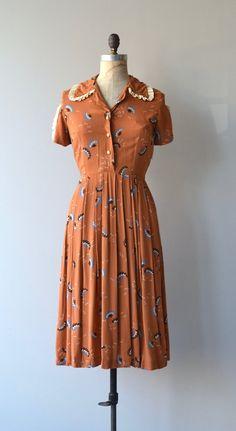 Bryn Briar dress vintage 1930s dress rayon floral by DearGolden