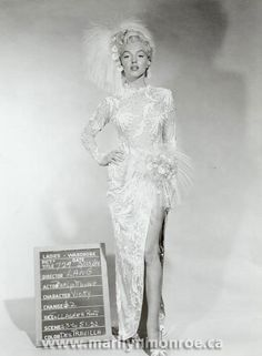 "Rare Costume Test Of #MarilynMonroe From The Film ""There's No Business Like Show Business"""