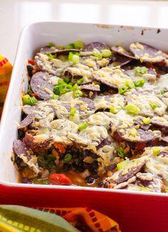 Clean Eating Nacho Kale and Black Bean Bake