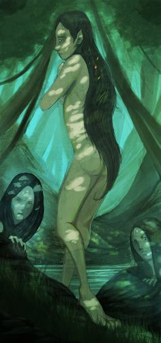 The Mesoamerican Tainos,for example, strongly believed in the Ciguapa, a Lorelei-like creature that haunted streams and secluded riversides under the guise of a beautiful nude woman with reversed feet.