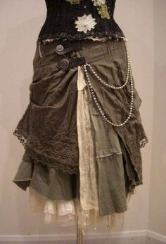 This idea would work well for thrifted skirts that don't fit right as is.  - Layered Petticoat Skirt -  Designs by Bonzie