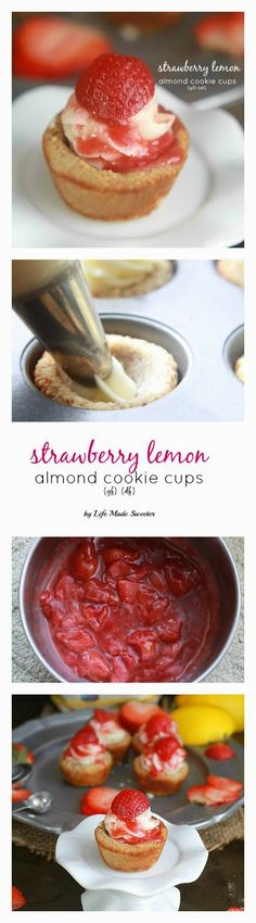 Strawberry Almond Cookie Cups {gf}{df} by Life Made Sweeter}.jpg