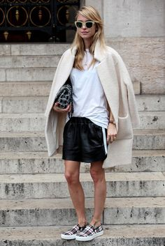 #StreetStyle Pernille Teisbæk mixing it up with a bit of sports luxe in Paris.