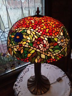 Stained Glass Tiffany Lamp No.9 Decorative by ModernArtGlassStudio