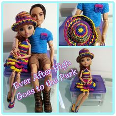 Ever After High Dolls Going to the Park Free Pattern