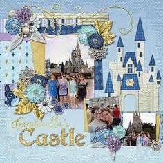 The Castle at Disney World scrapbook page layout idea for documenting Disney.