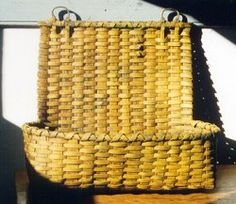 Black Ash Baskets. This mustard paint color makes me happy and want to redecorate using more primitives.