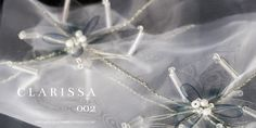 """C L A R I S S A by Jolinde for Amaike Super Organza. A stunning new textile design collection is now here and exclusively available on Amaike Super Organza - the world's lightest and thinnest fabric from Japan! Netherland's textile designer Jolinde Verbaandert has officially released her self-titled """"JOLINDE"""" Collection. Each stunning design showcases Jolinde's technical skill and artistic mastery. These designs are exclusively on Amaike Super Organza. info@jolindeverbaandert.com"""