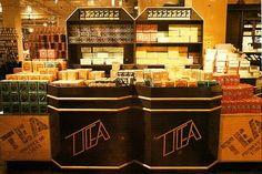 Giant tea caddies - Biba food department