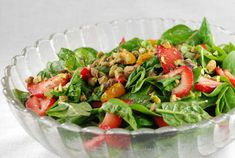 Tops Friendly Markets - Recipe: Spinach Salad With Strawberries