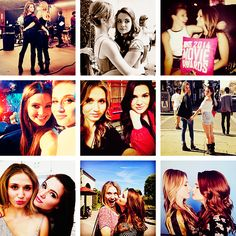 Rita Volk (plays amy) blond hair and Katie Stevens (plays karma) brown hair
