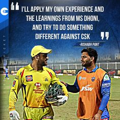 "DelhiCapitals captain #RishabhPant is planning to do ""something different"" against #MSDhoni's #CSK on April 10. #IPL2021 Cricket Quotes, April 10, Famous Quotes, Something To Do, How To Apply, How To Plan, Famous Qoutes"