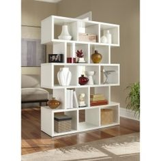 "64""H Five-Shelf Bookcase: Five shelves with thirteen storage cube space Espresso finish Assembles quickly and easy to clean"