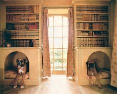 Built-in dog beds. Pet-friendly homes. -via Interior Canvas