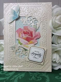 Sympathy card designed by Diane Shull using Anna Griffin products.