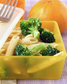 Pasta and Broccoli Salad: In a small bowl, combine pasta, broccoli, Parmesan, and 1/8 teaspoon each salt and pepper. Add olive oil, and toss. If desired, squeeze a lemon wedge over salad just before eating.