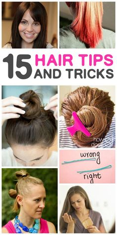 Hair tips you are not going to want to miss! Easy ways to style your hair and help it grow healthy and strong.