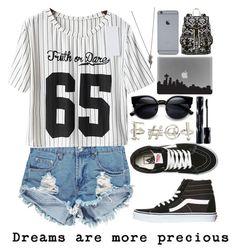 """Dreams are more precious"" by sunshinegirl-11 ❤ liked on Polyvore featuring moda, fettY, Boohoo, Vans, Shiseido e SM New York"