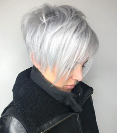 Long Silver Feathered Pixie